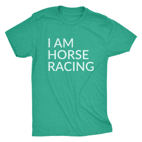I AM HORSE RACING - LOGO TEE/GREEN