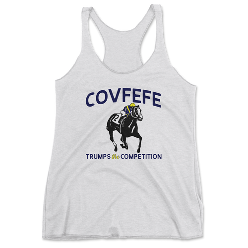 Covfefe Racerback Tank - White Heather