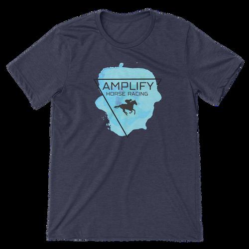 Amplify Racing Unisex T-Shirt - Heather Midnight Navy