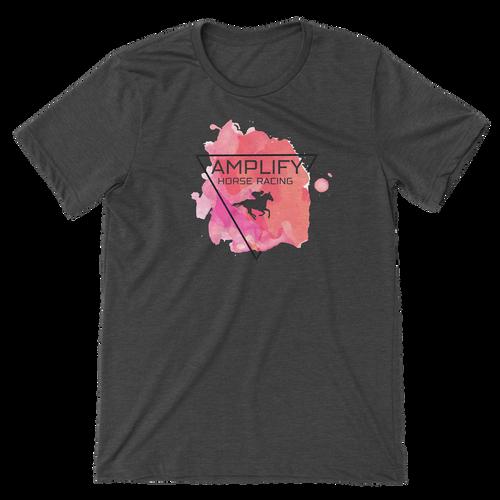 Amplify Racing Unisex T-Shirt - Deep Grey Heather