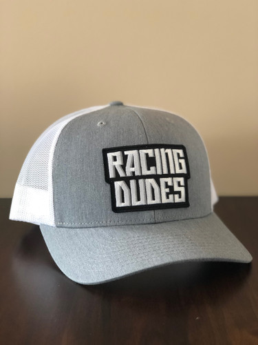 RACING DUDES TRUCKER HAT (GREY/WHITE)