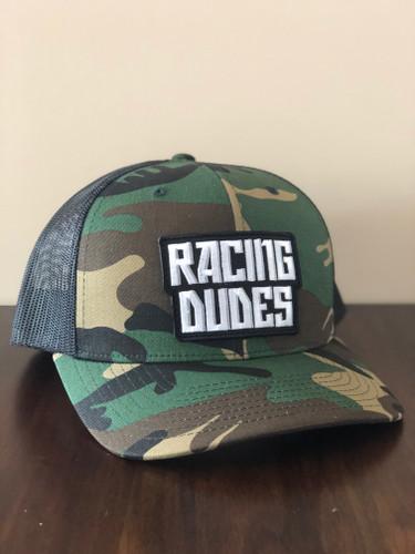 RACING DUDES TRUCKER HAT (CAMO/BLACK)