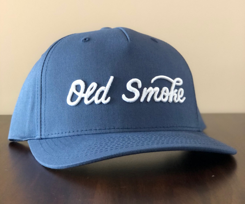 NAVY OLD SMOKE CURSIVE HAT