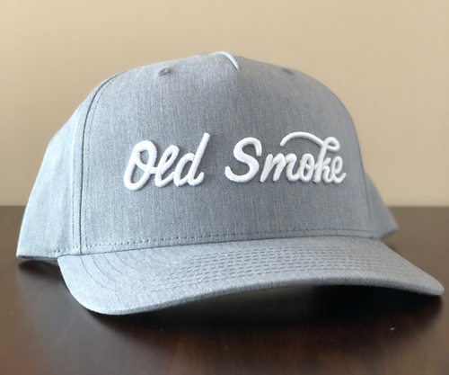 GREY OLD SMOKE CURSIVE HAT