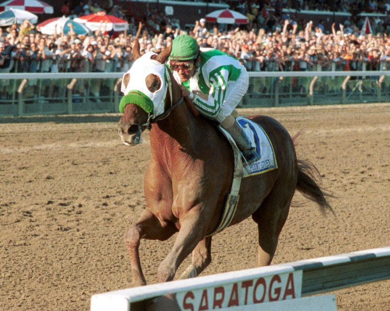 A Very Rare Feat for a Race Horse: Winning both the Belmont Stakes and the Travers Stakes.