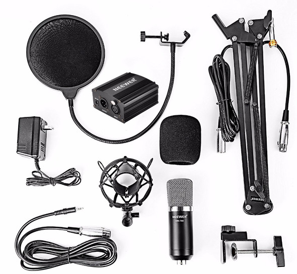 Neewer NW-700 Condenser Microphone & NW-35 Scissor Arm Stand
