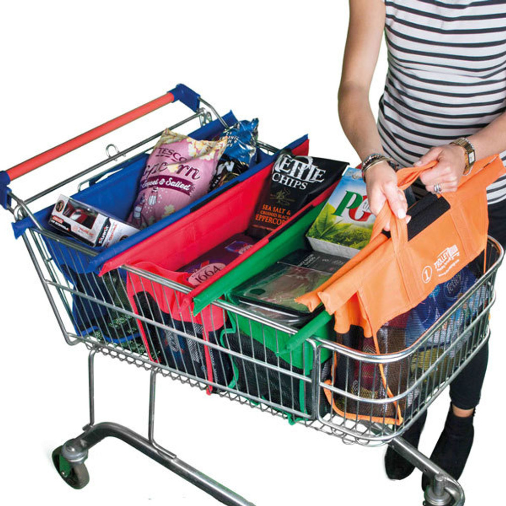 Trolley Bags Express fully packed with groceries.