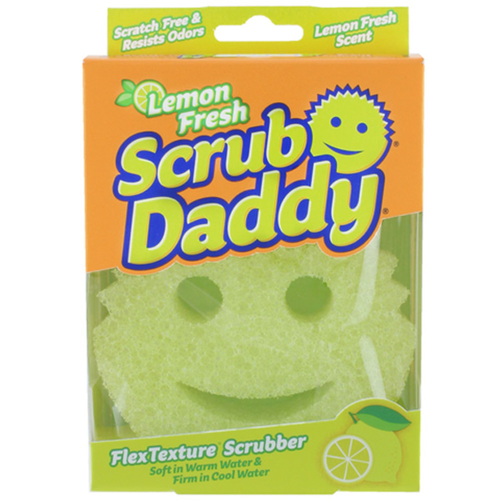 Scrub Daddy Lemon Fresh can remove many stains with just water to minimise your use of harsh chemicals and is lemon scented.