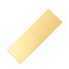 blank brass engraving plate
