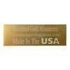 Engraving Plates Anodized Brushed Gold Color Aluminum