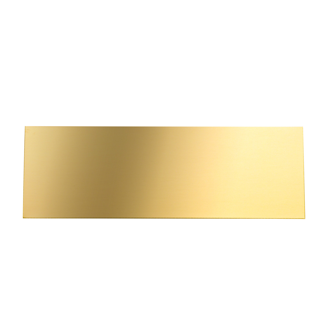 """5 x 3/"""" ENGRAVED POLISHED BRASS PLAQUE SIGN"""