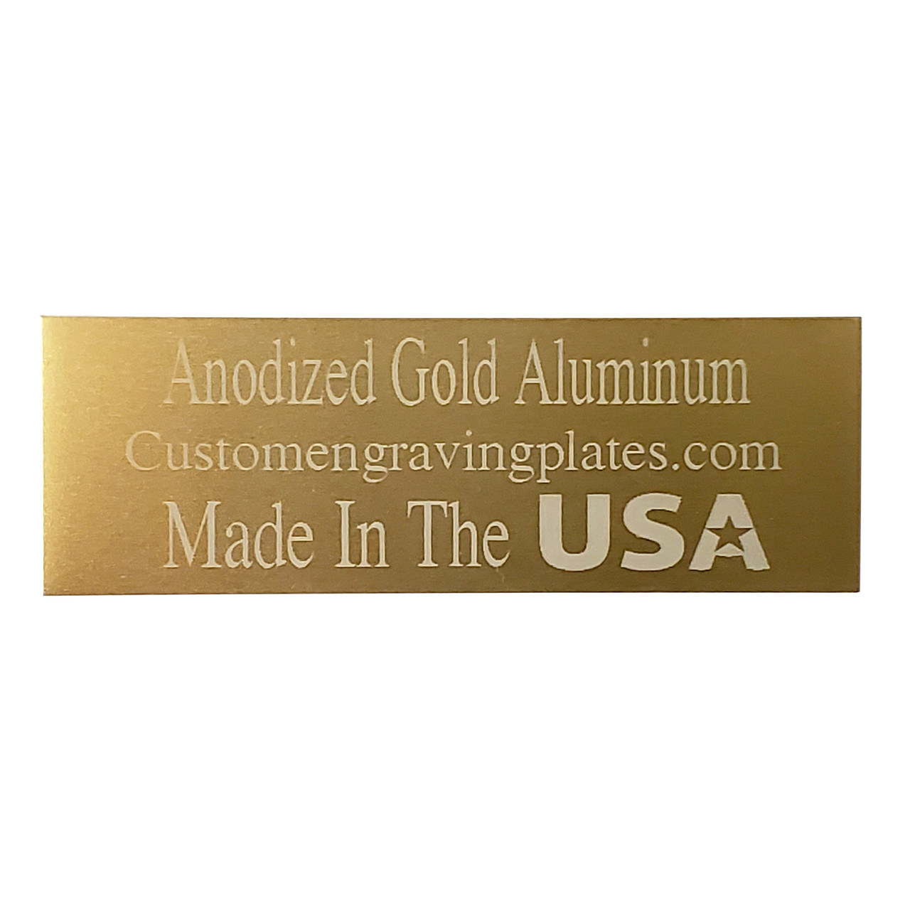 """lot of 20 GOLD ALUM ENGRAVING PLATES 1/"""" x 4/"""" with protective film"""
