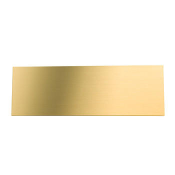 blank brass engraving plate