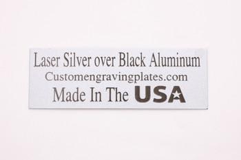 black letters laser engraving plates