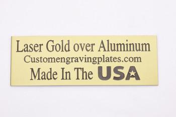 Gold laser engraving plates