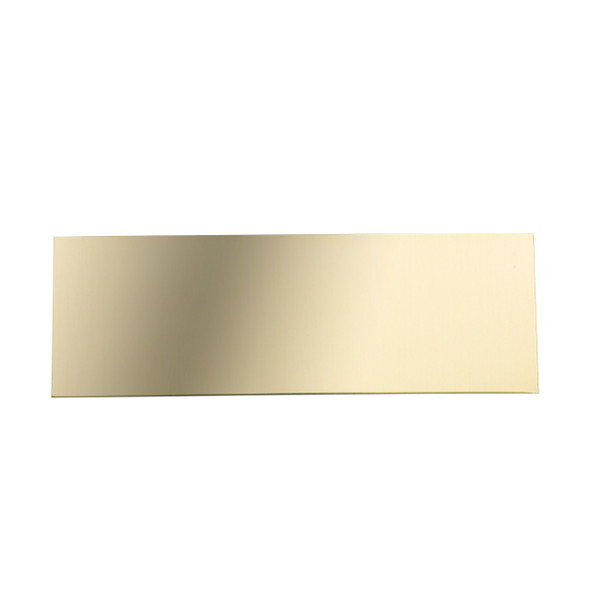 blank gold engraving plate