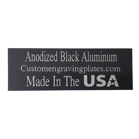 anodized engraving plaque