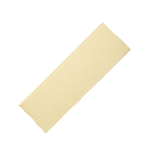 gold anodized blank engraving plate