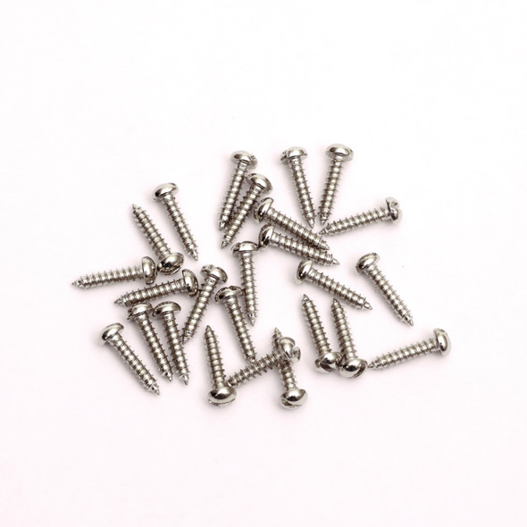 "3/8"" Inch Self Threading Screws Engraving Plates Silver Color 25 Pack"