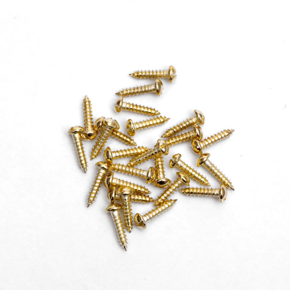 "3/8 "" Screws for Engraving Plates Gold Color 25 Pack"