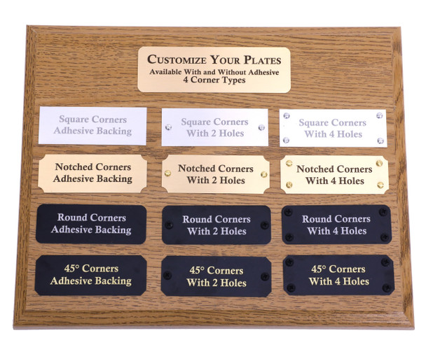 engraving plaque display