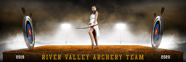 Archery Panoramic Team Banner Templates
