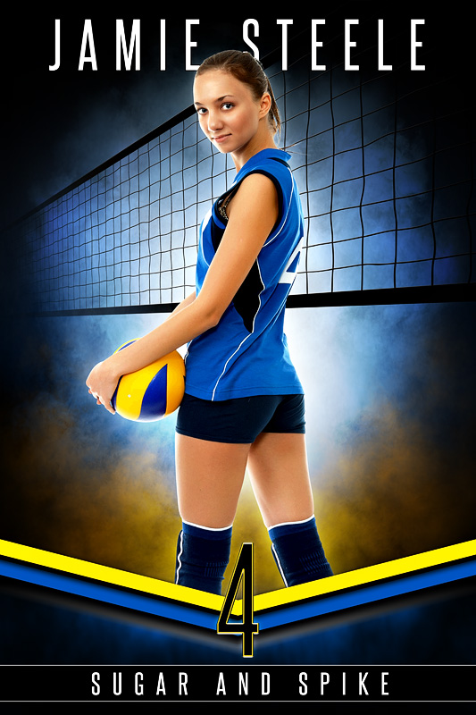 PLAYER BANNER PHOTO TEMPLATE - FANTASY VOLLEYBALL - PHOTOSHOP SPORTS TEMPLATE
