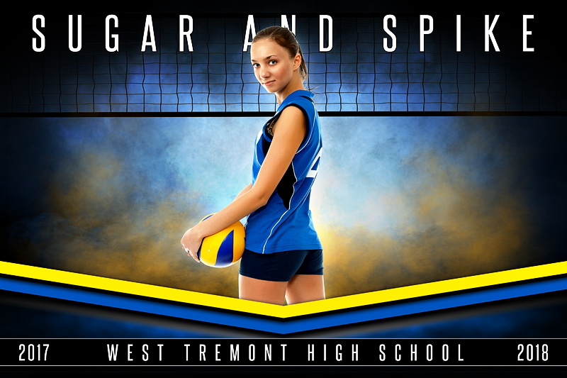 PLAYER & TEAM BANNER PHOTO TEMPLATE - FANTASY VOLLEYBALL - PHOTOSHOP SPORTS TEMPLATE