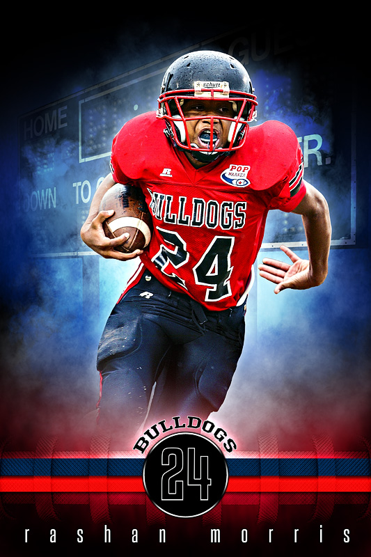 player banner sports photo template fantasy football photoshop
