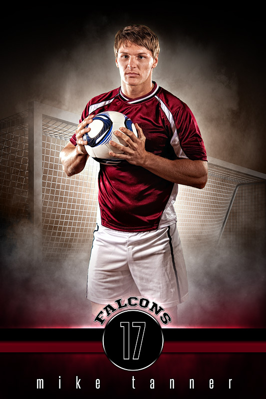 PLAYER BANNER PHOTO TEMPLATE - FANTASY SOCCER - PHOTOSHOP SPORTS TEMPLATE