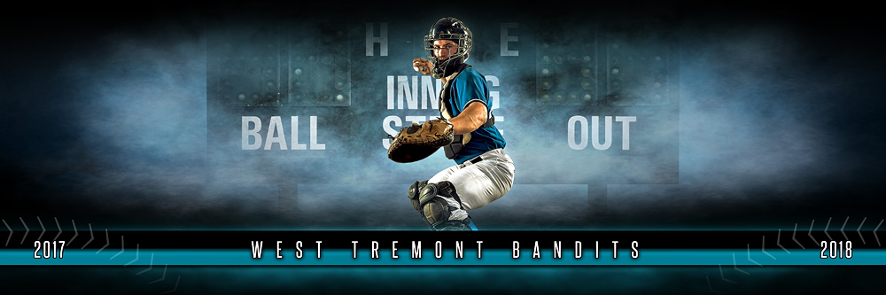 panoramic sports team banner photo template fantasy baseball