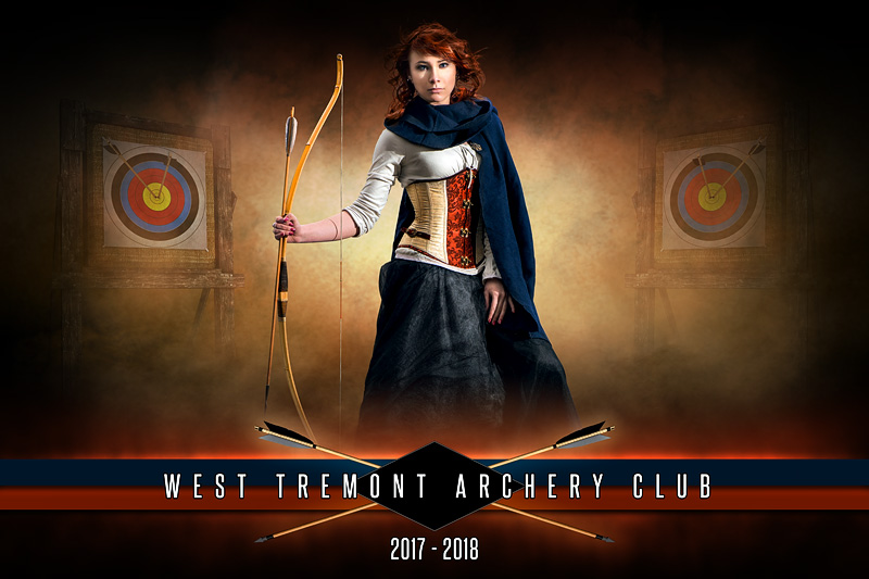 PLAYER BANNER PHOTO TEMPLATE - FANTASY ARCHERY - PHOTOSHOP LAYERED SPORTS TEMPLATE