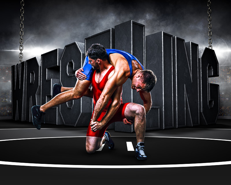 sports poster photo template surreal wrestling photoshop sports