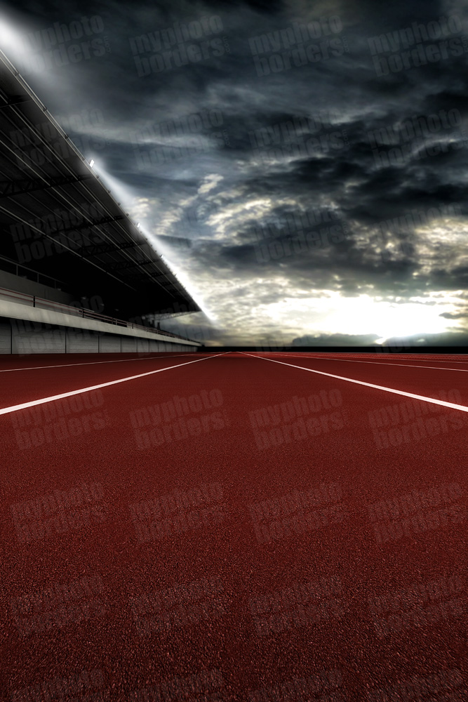 DIGITAL BACKGROUND - TRACK GRANDSTAND