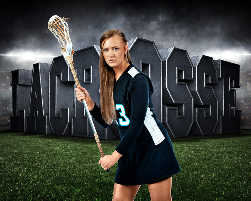 """16""""x20"""" SPORTS POSTER PHOTO TEMPLATE - HORIZONTAL - SURREAL LACROSSE"""