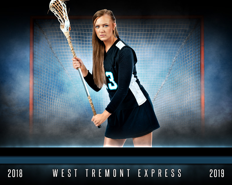 SPORTS POSTER TEMPLATE - FANTASY LACROSSE - PHOTOSHOP LAYERED SPORTS TEMPLATE