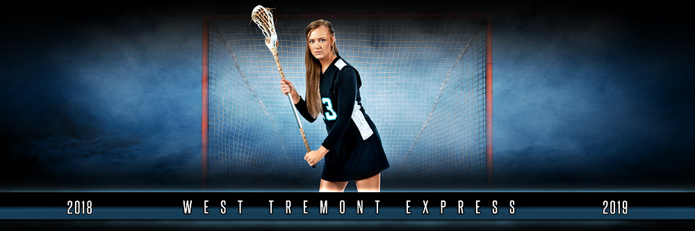 PANORAMIC SPORTS BANNER TEMPLATE - FANTASY LACROSSE - LAYERED PHOTOSHOP SPORTS TEMPLATE