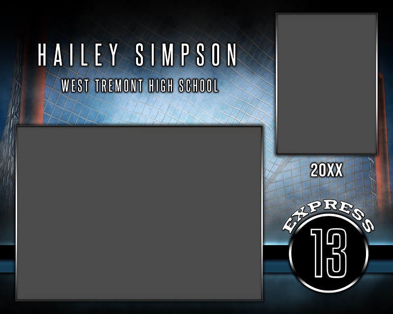MEMORY MATE PHOTO TEMPLATE - HORIZONTAL - FANTASY LACROSSE