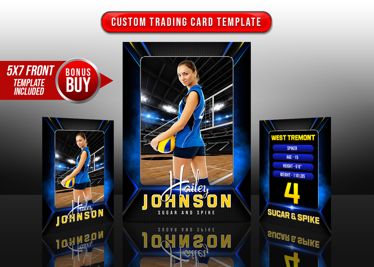 SPORTS TRADING CARDS AND 5X7 TEMPLATE - STANDOUT