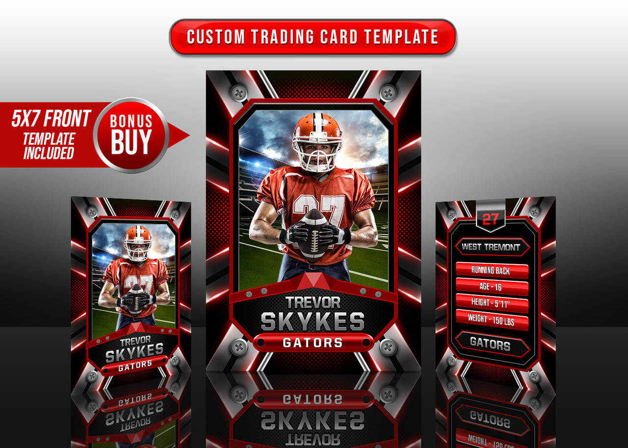 SPORTS TRADING CARDS AND 5X7 TEMPLATE - FORCE