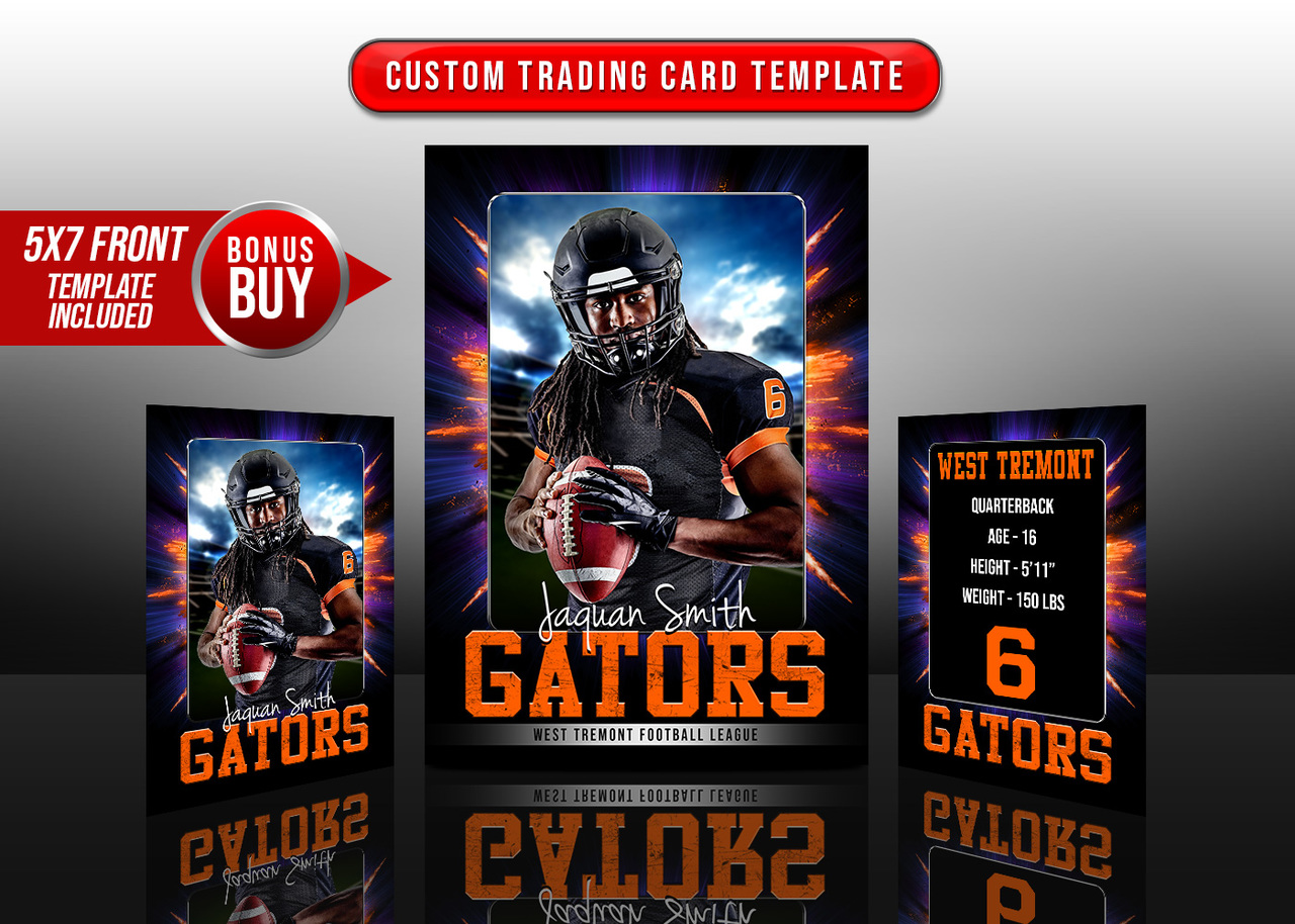 SPORTS TRADING CARDS AND 5X7 TEMPLATE - EXPLODE