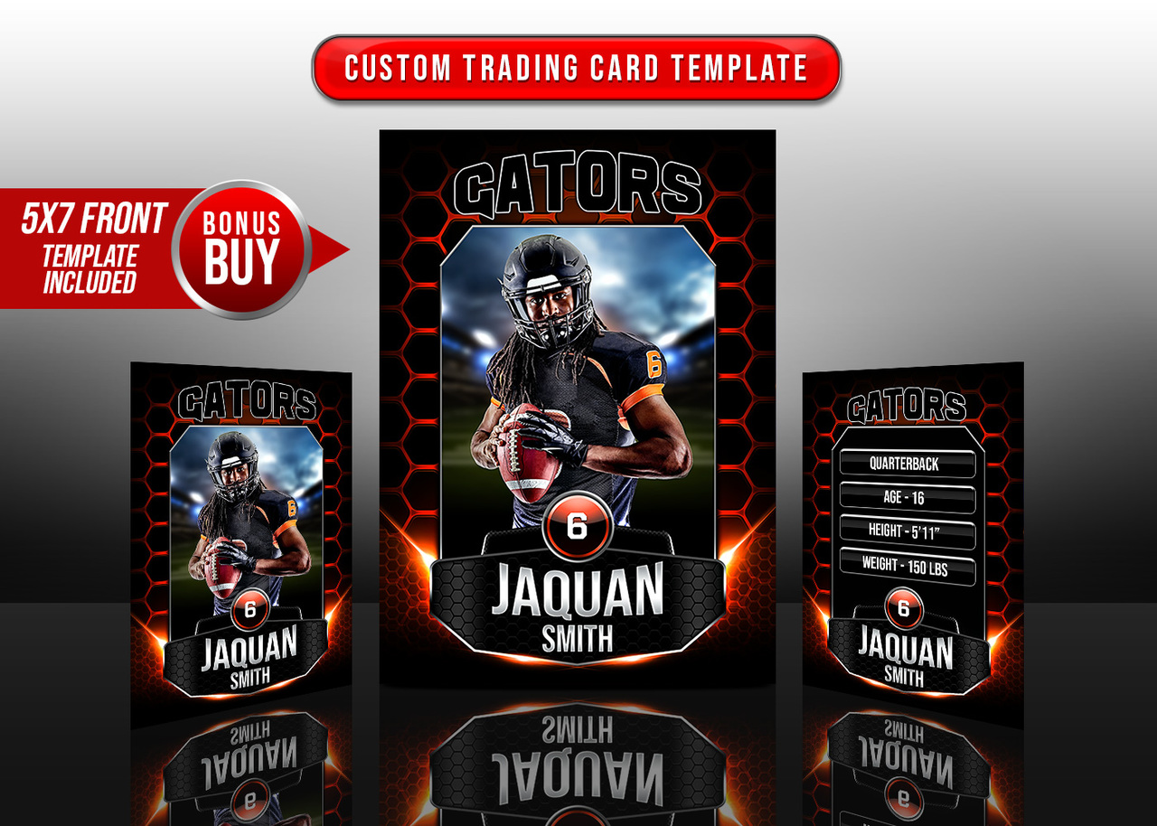 SPORTS TRADING CARDS AND 5X7 TEMPLATE - ILLUMINATION