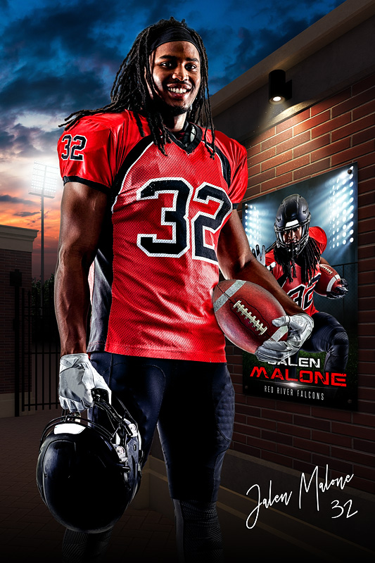 PLAYER BANNER PHOTO TEMPLATE - FIELD ENTRY - CUSTOM PHOTOSHOP LAYERED SPORTS TEMPLATE