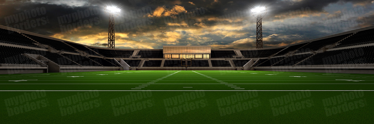 DIGITAL BACKGROUND - HOME FIELD - FOOTBALL - PANORAMIC