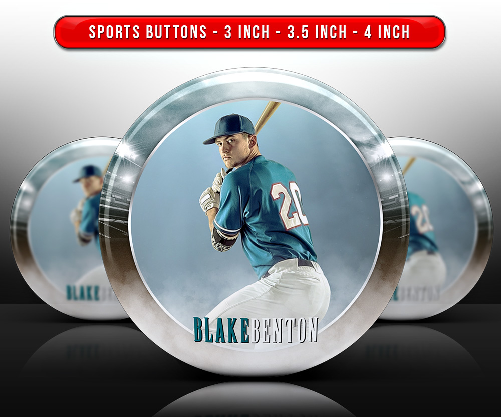 SPORTS PHOTO BUTTON TEMPLATES - FADE OUT