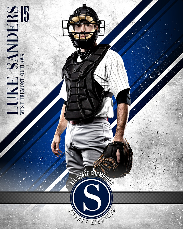 16x20 MULTI-SPORT POSTER - GRUNGE SPORT - CUSTOM PHOTOSHOP LAYERED SPORTS TEMPLATE