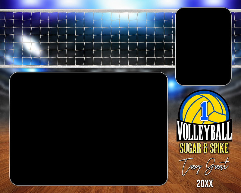 MEMORY MATE - HORIZONTAL - VOLLEYBALL COURT LOGO - CUSTOM PHOTOSHOP LAYERED MEMORY MATE TEMPLATE