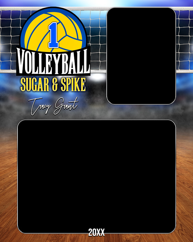 MEMORY MATE - VERTICAL - VOLLEYBALL COURT LOGO - CUSTOM PHOTOSHOP LAYERED MEMORY MATE TEMPLATE
