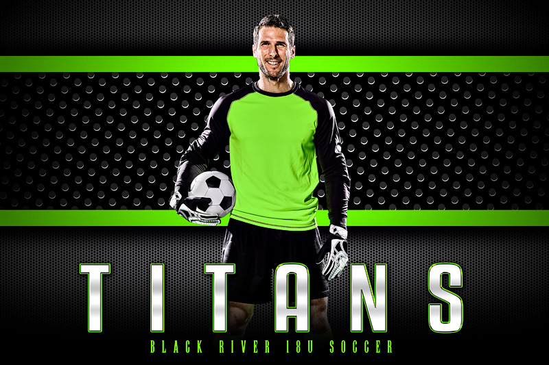PLAYER & TEAM BANNER PHOTO TEMPLATE - BOLD - CUSTOM PHOTOSHOP LAYERED SPORTS TEMPLATE