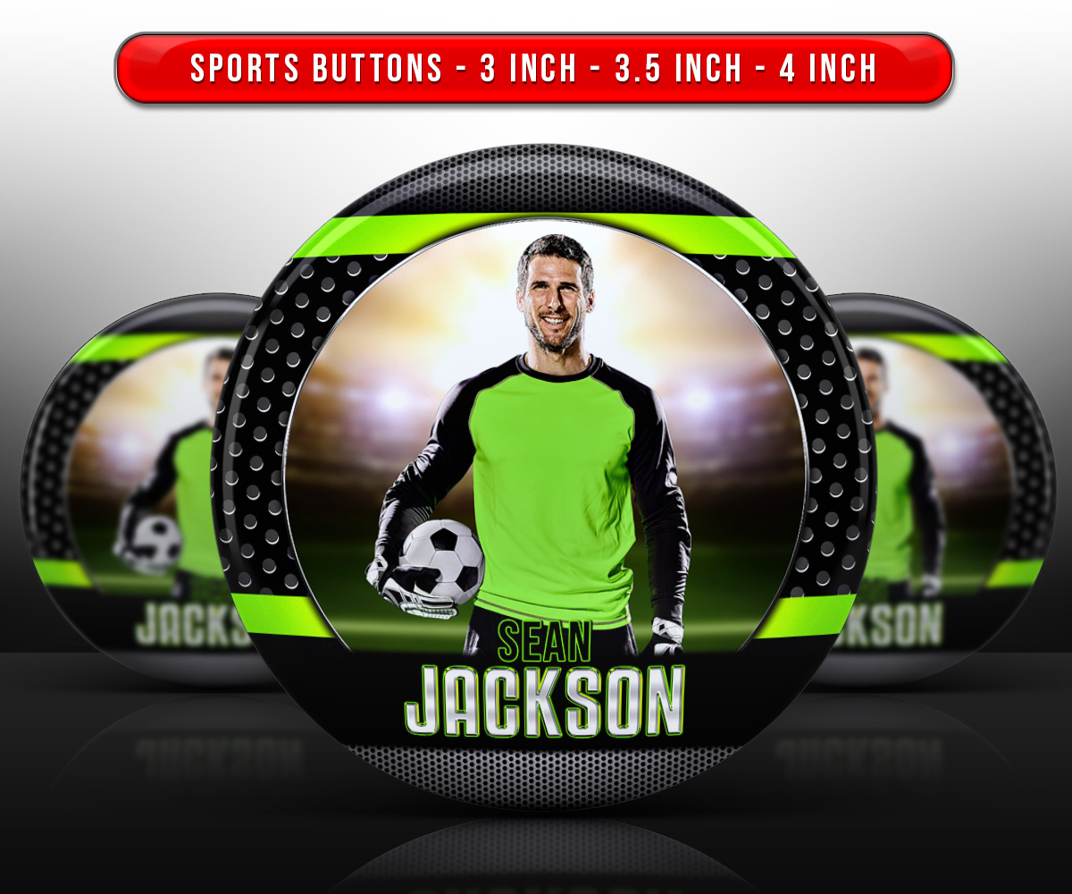 SPORTS PHOTO BUTTON TEMPLATES - BOLD